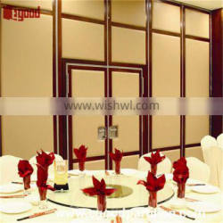 Hotel outside lobby foldable partition with double pass through door