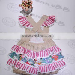 the latest fashion girls boutique with hand embroidery colorful kids suits dress