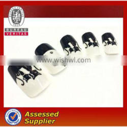 Artificial fingernails designed Nail art french tips ABS girls fake nails