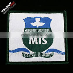 custom individual design weaving label patch woven badges for garment