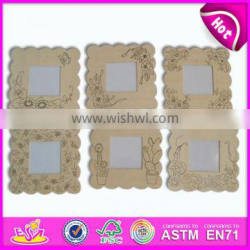 New wall ornament for kids,popular room decoration wooden toy photo frame,hot sale Splinting frame wall frame ornament WJ278460
