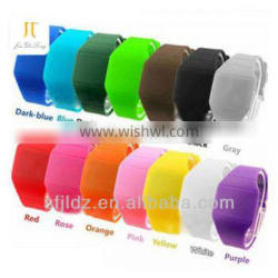 China wholesale custom silicon led watch with colorful lights ribbon watch bands