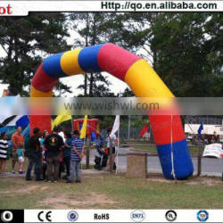 Latest outdoor decoration inflatable rainbow arch for sale