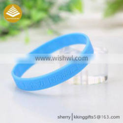 Promotional cheap custom made wrist bands silicone bracelet