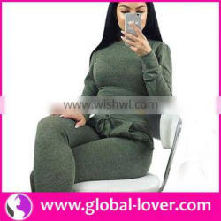 Top selling womans long sleeve 2 pcs set fitness activewear