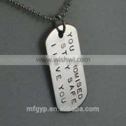 arts and crafts titanium dog tag for people