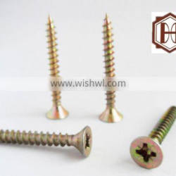 yellow zinc stainless furniture screw from china manufacturer supplier