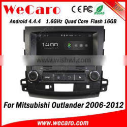 """Wecaro 8"""" Android 4.4.4 car audio system 2 din for mitsubishi outlander dvd player car stereo A9 1.6ghz cpu 2006-2012"""