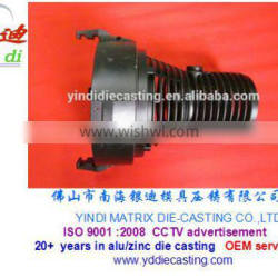 Aluminum Alloy Die Casting projection lamp housing with black powder coating
