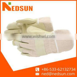 Protection pigskin protective split leather working gloves