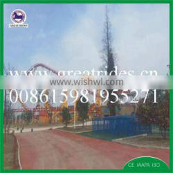 large size 6 loops roller coaster amusement attraction