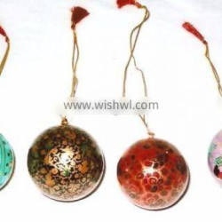 indian PAPERMACHI CHRISTMAS TREE ORNAMENTS HANGINGS