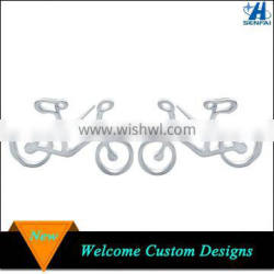 Simple Silver Plating Bicycle Designs Earring for Girls