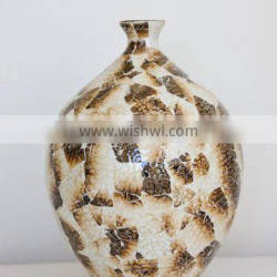 Best selling high quality burnt eggshell inlay vase