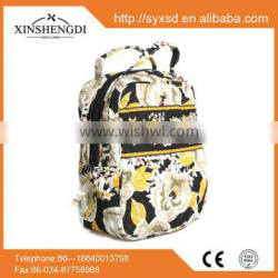 RE031 2015 New Arrival cotton floral quilted girl's large school laptop backpack