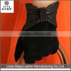 Newest design high quality Cheap Women Leather Dress suede Gloves