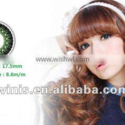 wholesale cosmetic cheap lace colored contact lens 7colors from korean