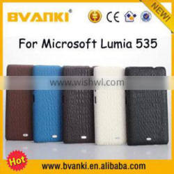 New Technology For Microsoft Surface Spare Parts PU Bumper PC Phone Case For Microsoft Lumia 535 Mobile Phone Case