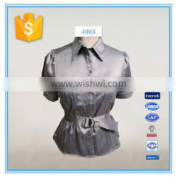 Satin formal and office blouses design for women