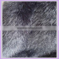 acrylic long pile black goat fur fabric fire resistant fabric china supplier