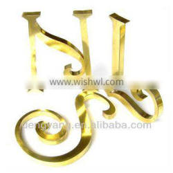 Dimensional Brass letters and logos