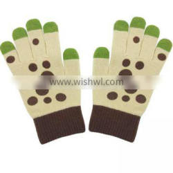 ladies soft leather winter gloves with fashion bowknot Quality Choice