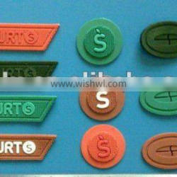 silicone labels for garment and bags