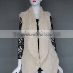 new style hot sale knitting lady women winter rabbit fur vest price for sale
