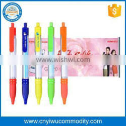 Hot Selling Plastic Wholesale Pull Out Banner Pen