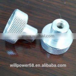 knurling pin with inner thread
