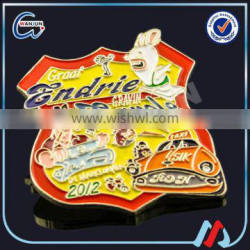 Promotional colorful paint iron cap badge for sale