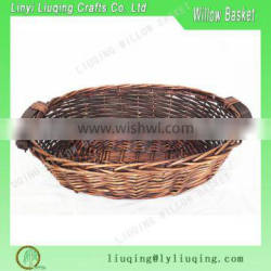 Hot New Products Wicker fruit Basket with wood ear