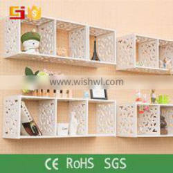 modern carved wall shelf cubes for home decor