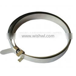 Stainless steel W4 throbbing hose clamp