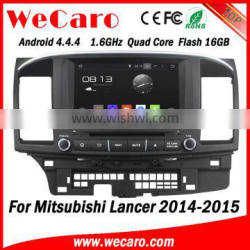 """Wecaro 8"""" Android 4.4.4 car multimedia system in dash for mitsubishi lancer touch screen car radio android bluetooth 2014 2015"""