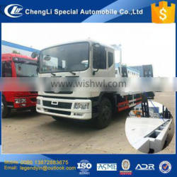CLW new design retractable flatbed edge extended the width from 2.5m to 3m wide DF 4x2 flabed excavator transport truck