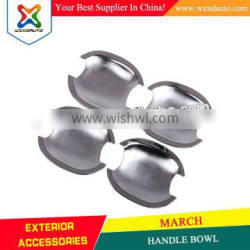 SET ABS CHROME DOOR HANDLE BOWL INSERTS COVER DOOR HANDLE BOWL FOR MARCH 2010