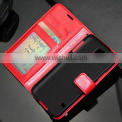 with stand wallet flip case for iphone 4 cover with ID credit card card holder for iphone 5