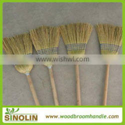 Home usage natural sorghum straw corn broom with wooden sticks