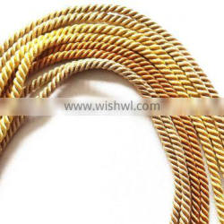 Gold Polyester Triple-Strand Cord