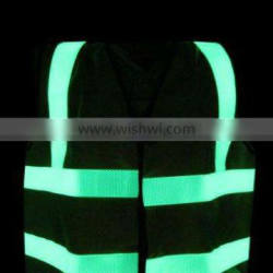 luminous and reflective road safety vest