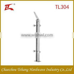 Factory Supply indoor and outdoor Staircase Stainless Steel Glass Railing