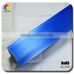 TSAUTOP 1.52*30m 2016 High Quality Factory Brushed Vinyl Car Wrapping Cerulean Blue