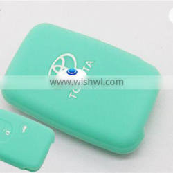 High quality silicone key cover for Toyota 3 button rubber key case colorful cover