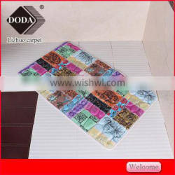 new design colorful printing embossing Polyester Shaggy Carpet bath mat livingroom rugs