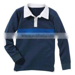 BOYS RUGBY POLO SHIRT WITH WOVEN COLLAR