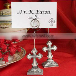 resin craft cross shaped wedding place card holder table decorations