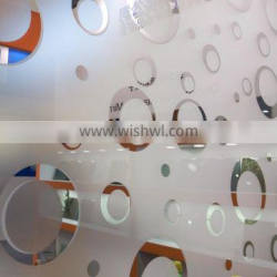 Titanium Frosted Acid Etched Glass